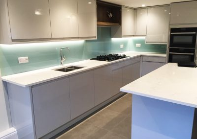 custom painted glass splashback any colour