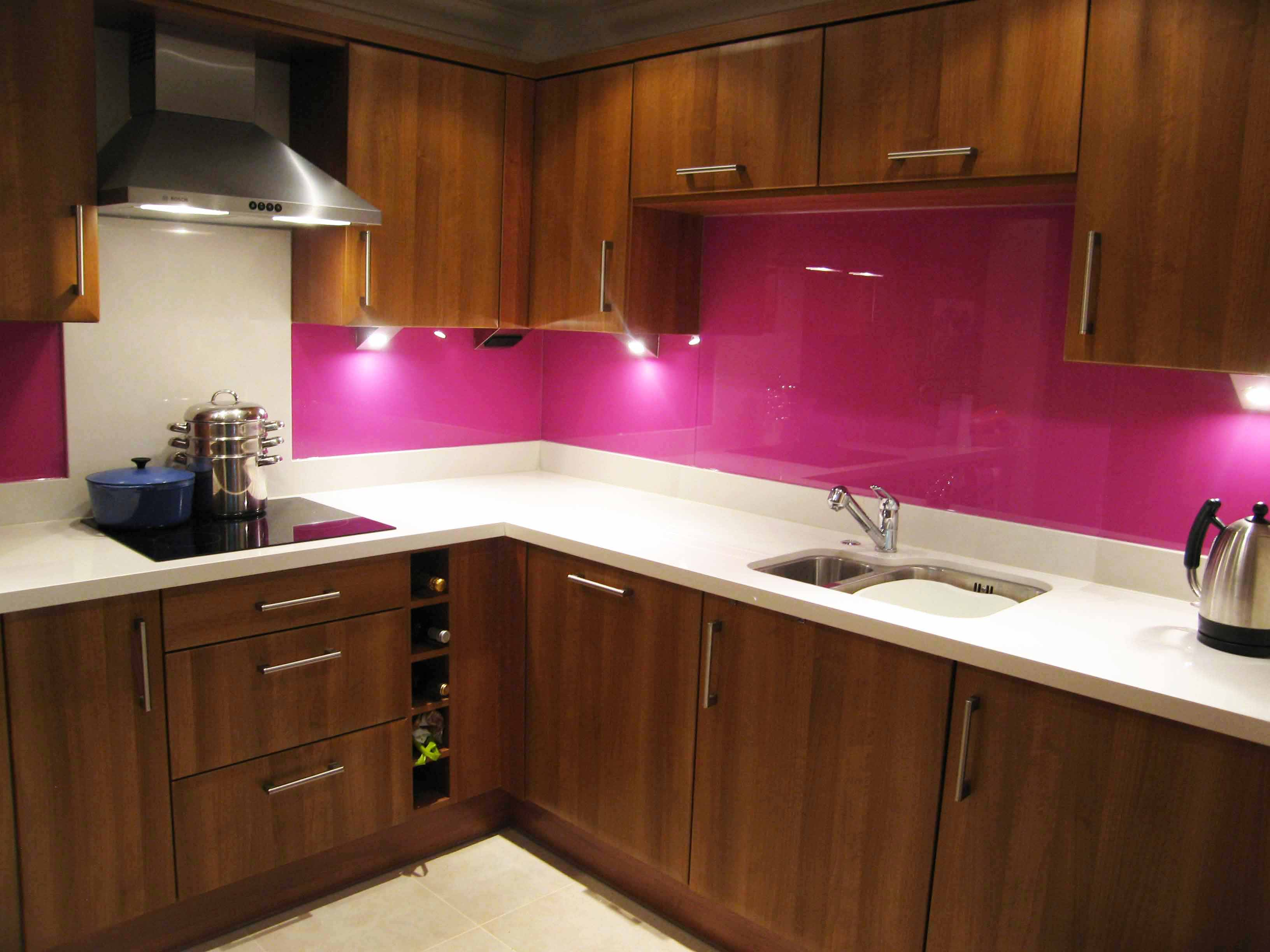 Black Splashback Kitchen Finishes Glass Outlet