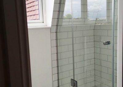 frameless shower enclosure toughened glass