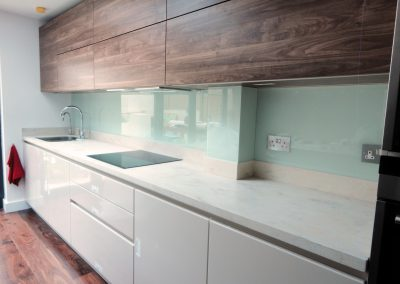 light turquoise kitchen splashback