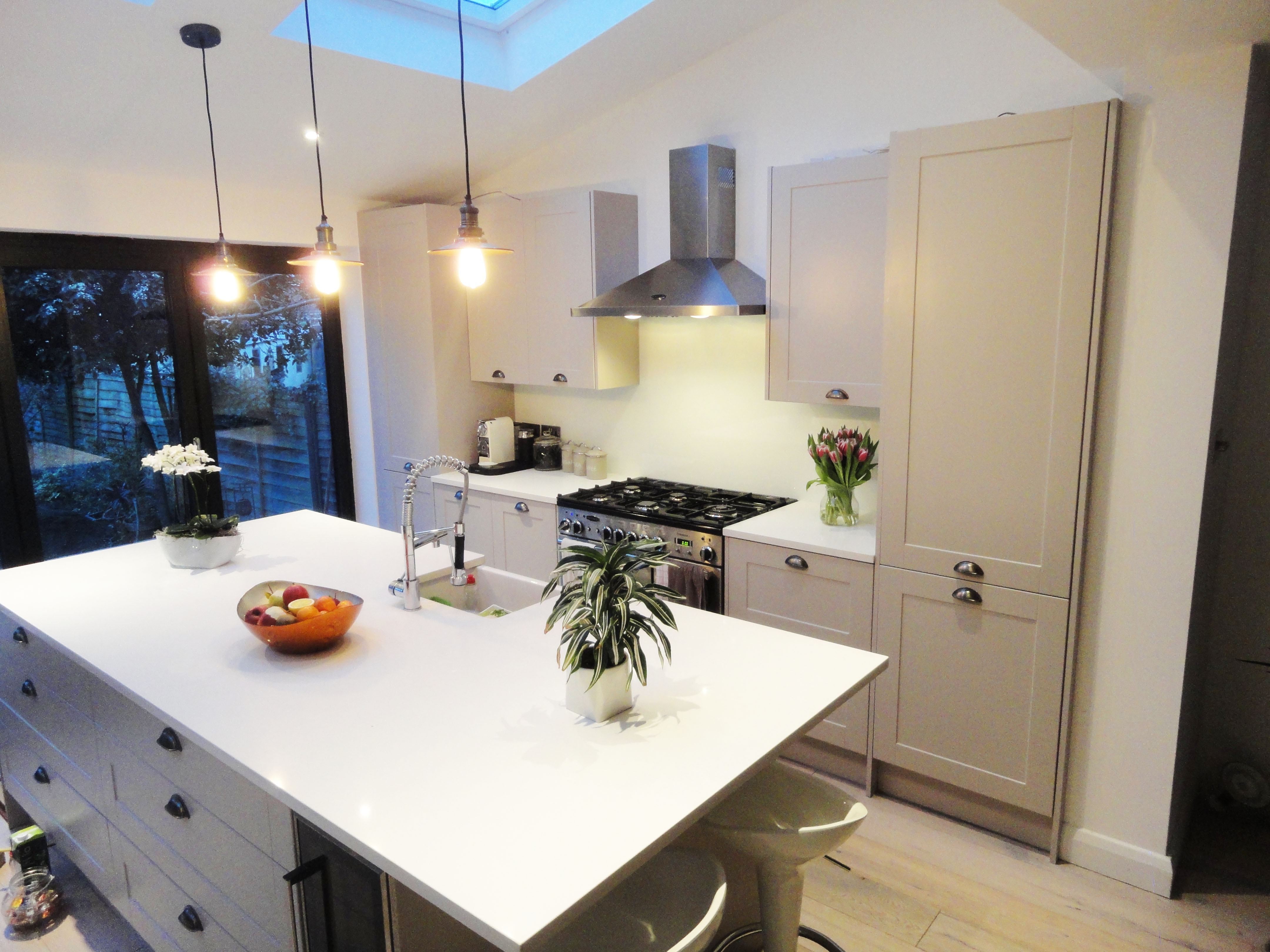 Splashback White Kitchen Finishes Glass Outlet