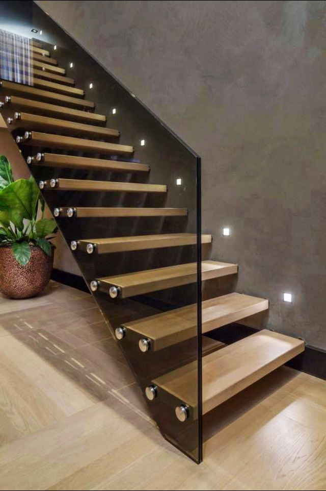 Lighting Basement Washroom Stairs: Glass Outlet