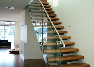 frameless stair glass