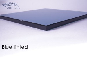 blue tinted toughened edge