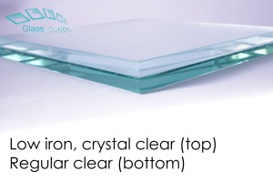 difference between low iron and clear edge