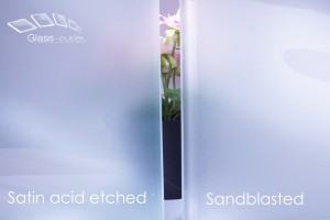 difference between satin and sandblast