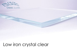 low iron clear toughened glass edge