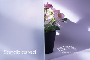 sandblasted toughened glass