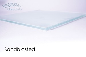 sandblasted toughened glass edge