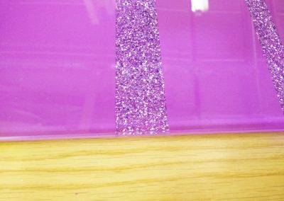 diamond sparkle effect on glass