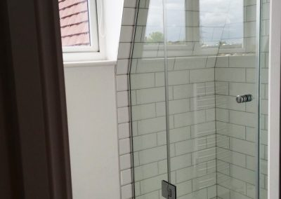 frameless shower enclosure toughened glass