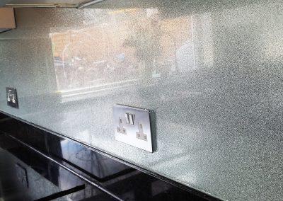 silver sparkle decorative glass