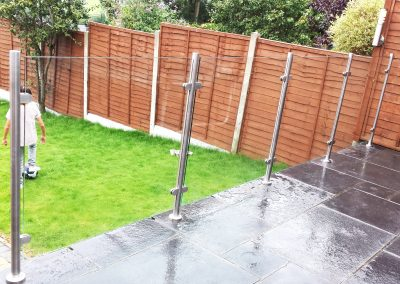 Garden Balustrade clear toughened glass