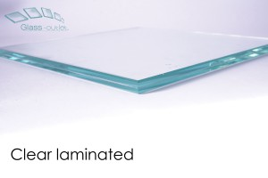 clear laminated glass edge