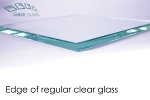 regular clear toughened glass edge