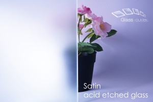 satin acid etched toughened glass