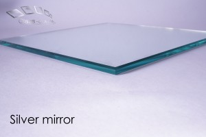 silver mirror glass edge